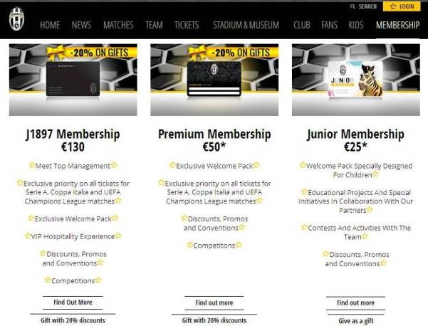 Website Juventus