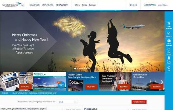 Home Page website Garuda Indonesia