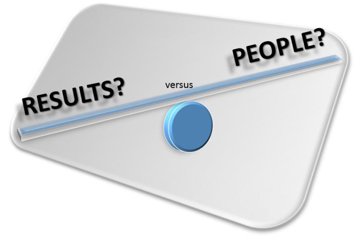 result vs people oriented leadership